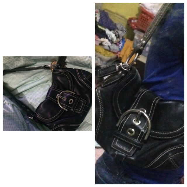 Coach Black Leather Buckle Style