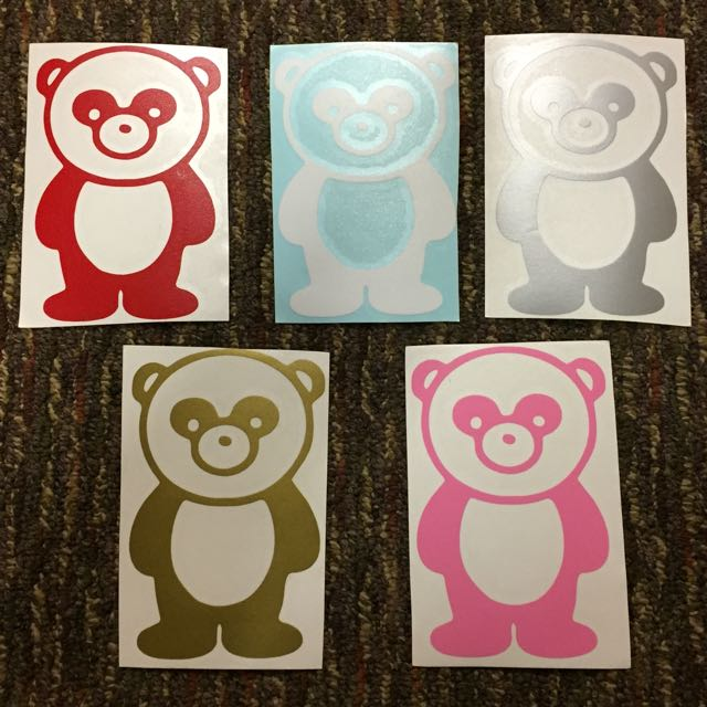 CUTE BEAR STICKERS FOR YOUR CAR!!