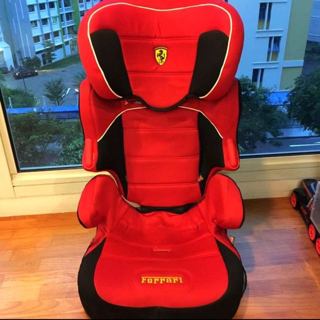 Ferrari Booster Child Car Seat with Detachable Back Support