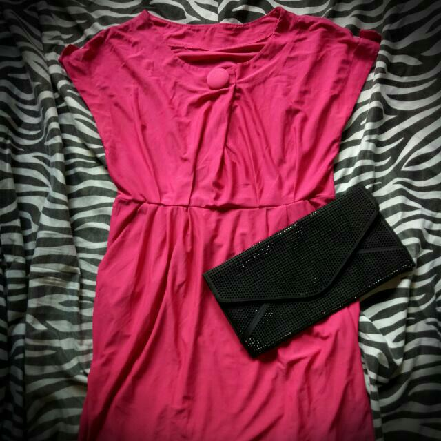 Fuschia Pink Office Dress