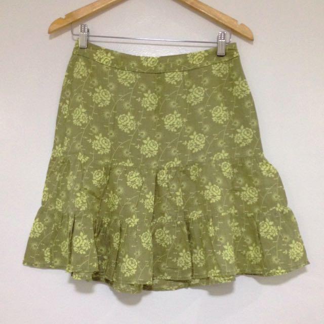 Gap Ruffled Mini Skirt