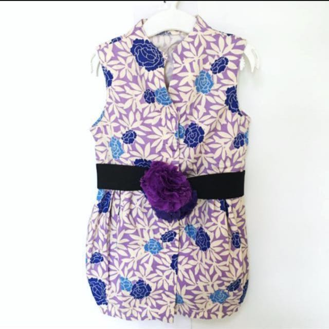 GINGERSNAPS GIRLS PURPLE DRESS WITH DETACHABLE BELT (4 Years)