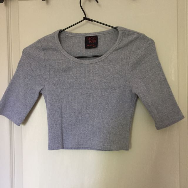 Grey Crop Top