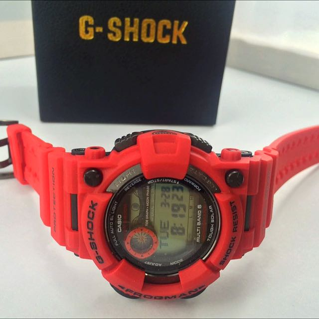 3d8e23963864 G-shock Frogman All red Material   rubber Condition   NEW Gender ...