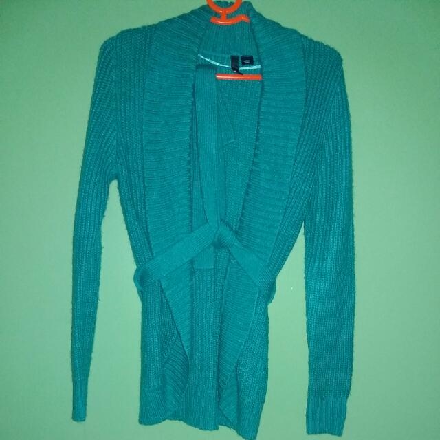 H&M Cardigan Blue Green