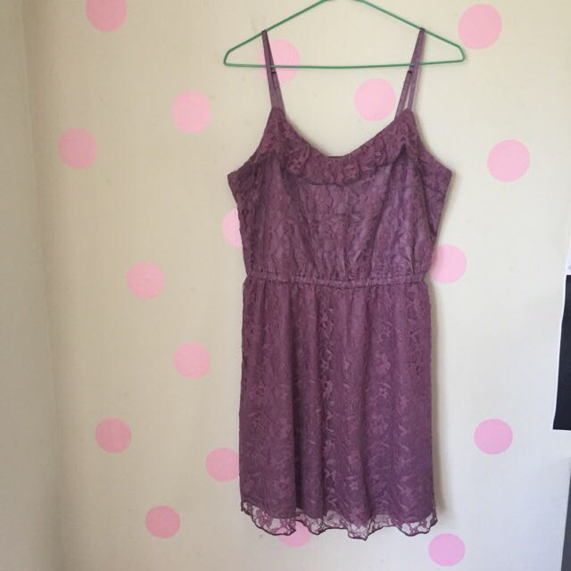 H&M Purple Lace Dress