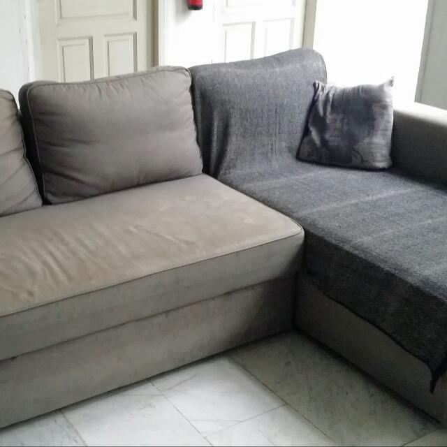 Reserved Ikea Sofa Bed Manstad Grey Furniture Sofas On Carousell
