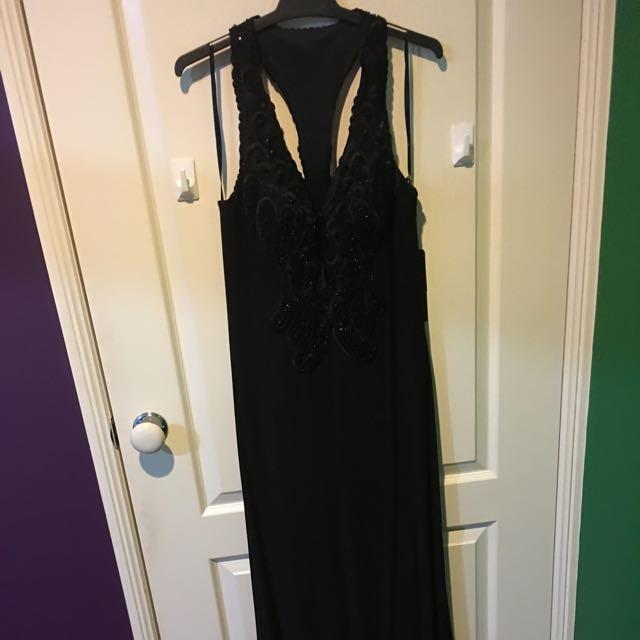 Juliette Full Length Black Dress