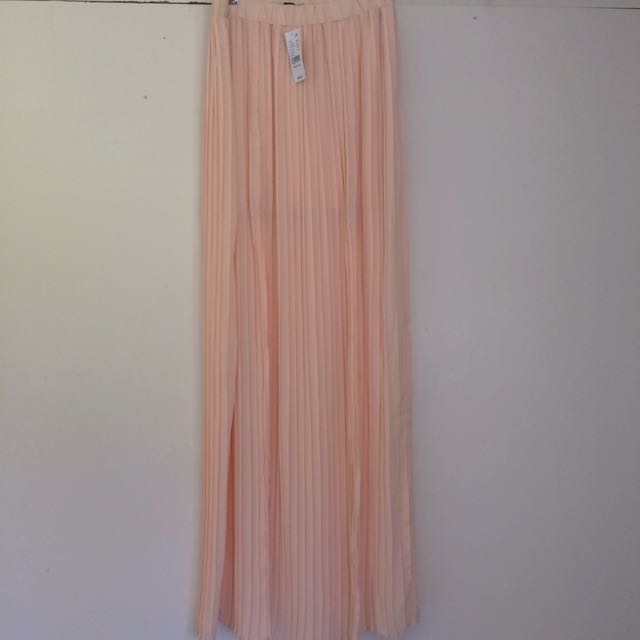 KENDALL & KYLIE MED PLEATED MAXI SKIRT