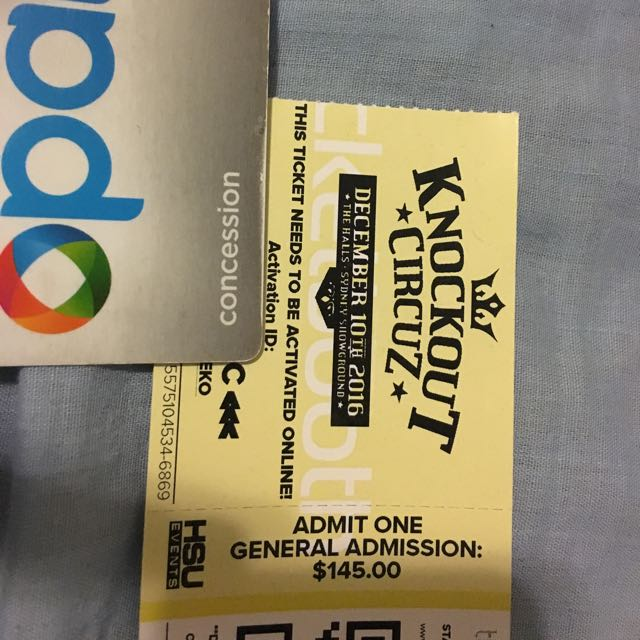 Knockout Circuz Ticket - Not Activated Yet