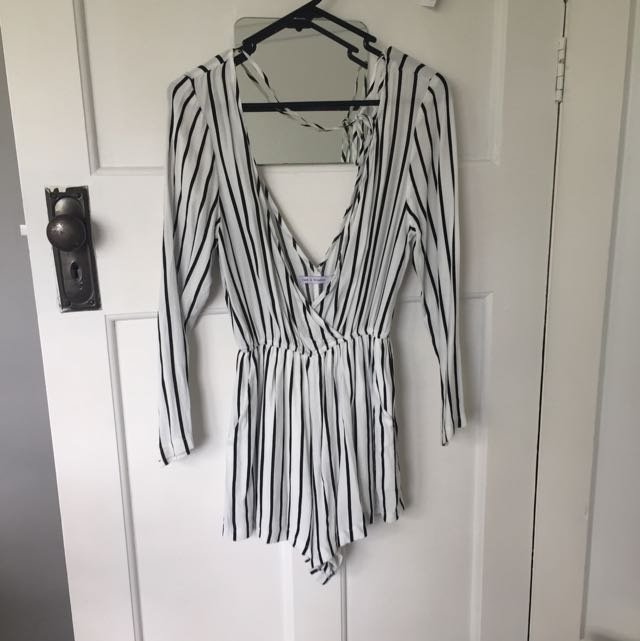 Luck & Trouble Stripped PLAYSUIT