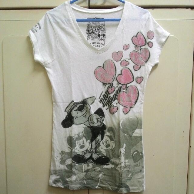 正版Mickey長版短袖上衣