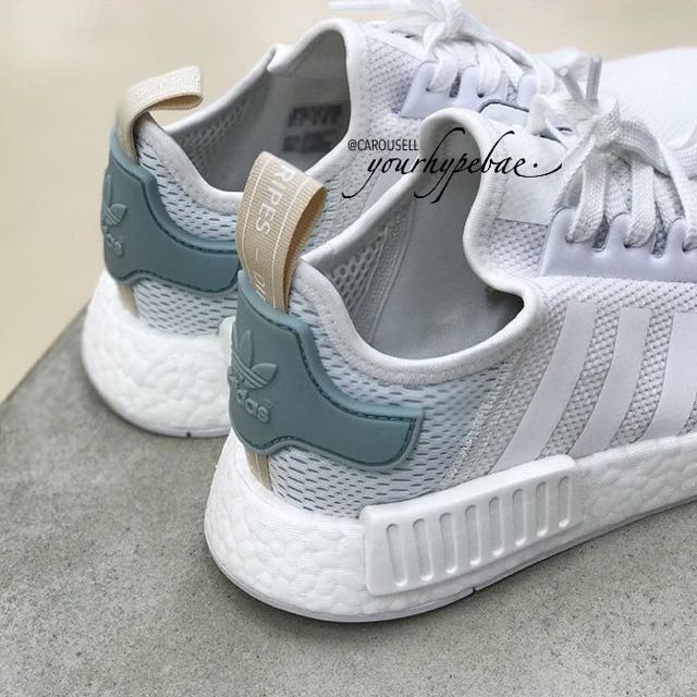 [ALL SIZES] Adidas NMD R1 W Vintage White / Pastel Green / Nude, Preorders  on Carousell