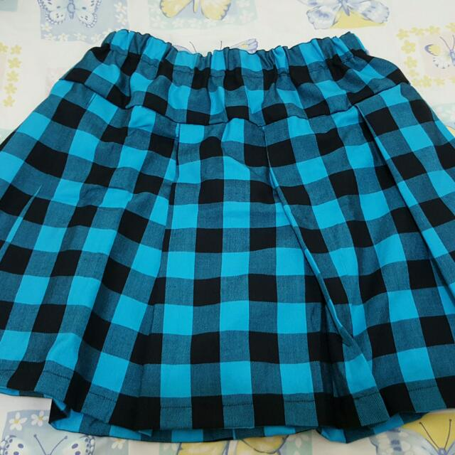 NEW HARAJUKU SKIRT/ BLUE TARTAN SKIRT