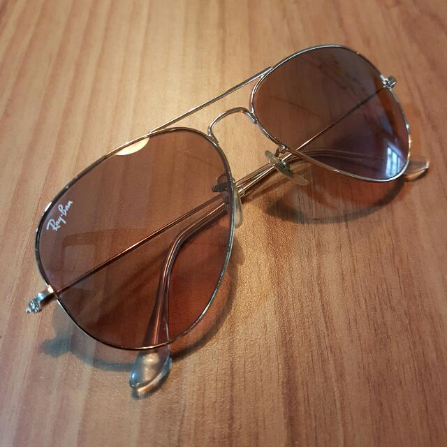 306b645139a Original Ray-Ban Aviators  Pink gradient lenses with gold frame ...