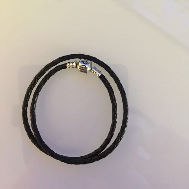 Pandora Leather Bracelet Black