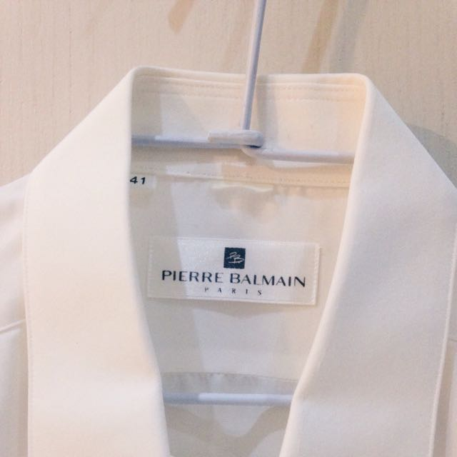 PIERE BALMAIN 長袖白色襯衫