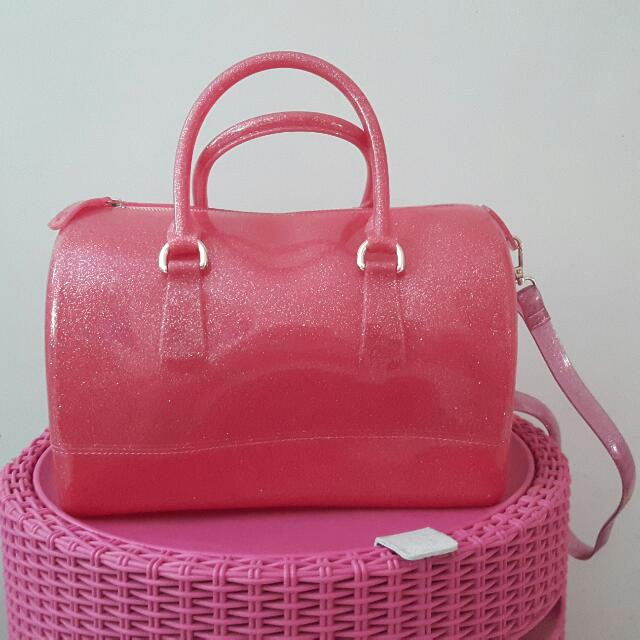 Pre Loved Pink Jelly Bag