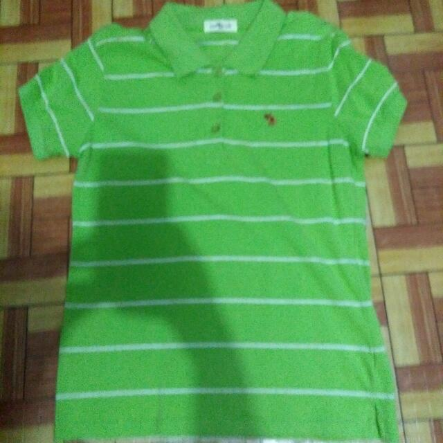 preloved yellow green polo shirt