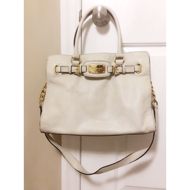 Real Michael Kors large leather tote (cream)