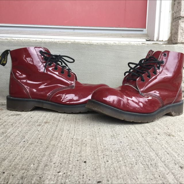 Red Doc Martens (Woman's Size 9.5-10)
