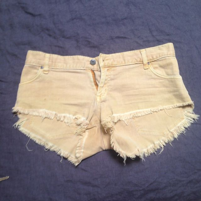 Rusty Mustard Denim Shorts