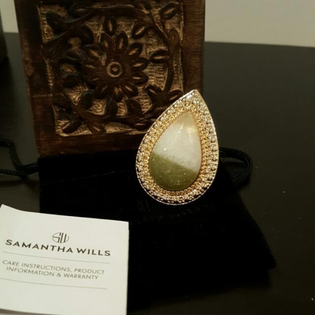 New Samantha Wills Bohemian Bardot Ring White Sage RRP 99 00