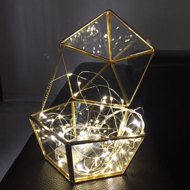 Sellabrations Christmas Copper Terrarium And Fairy Lights