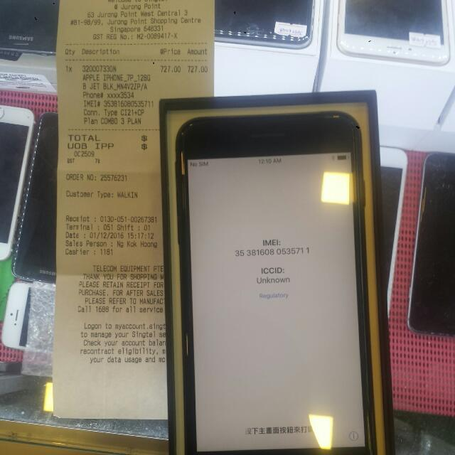 Selling Brand New Recontract Ip7+ 128gb Jet Black