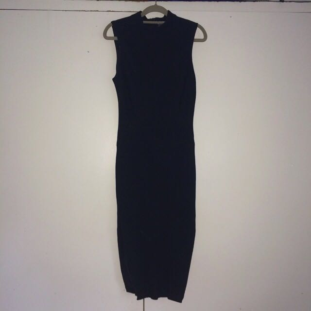 SHEIKE BLACK MIDI DRESS SIZE 12