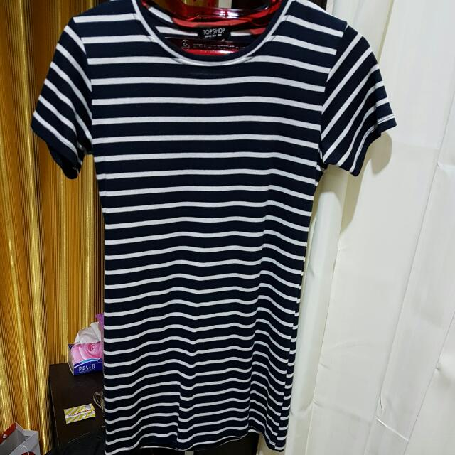 STRIPES DRESS TOP SHOP