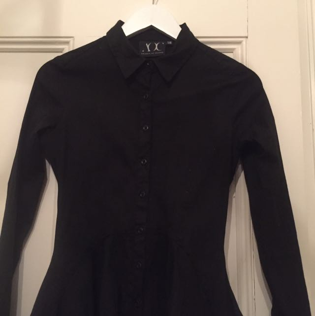 Topshop Collection Button Up Flare Dress