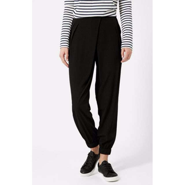 Topshop Wrap Black Jogger TALL
