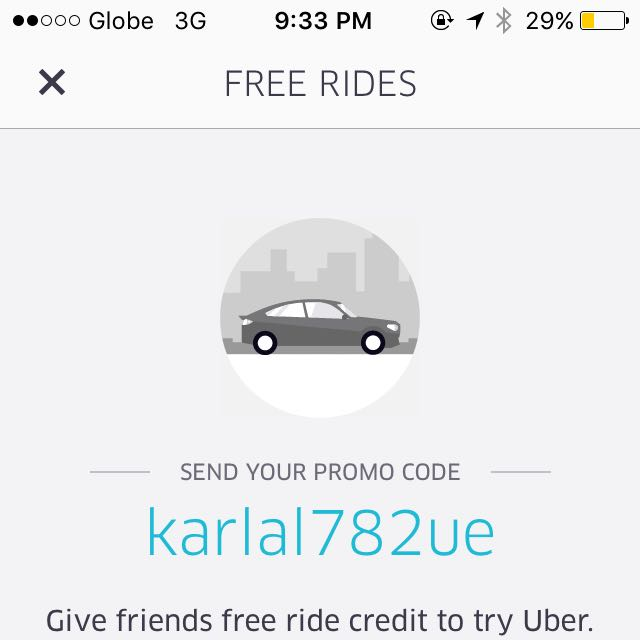 Uber P100 Off On Your Next Ride