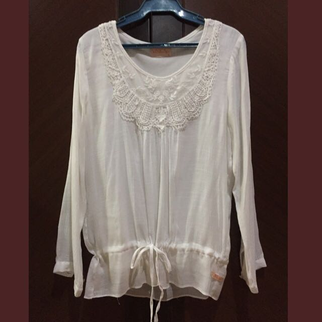 Unica Hija White Peasant Top
