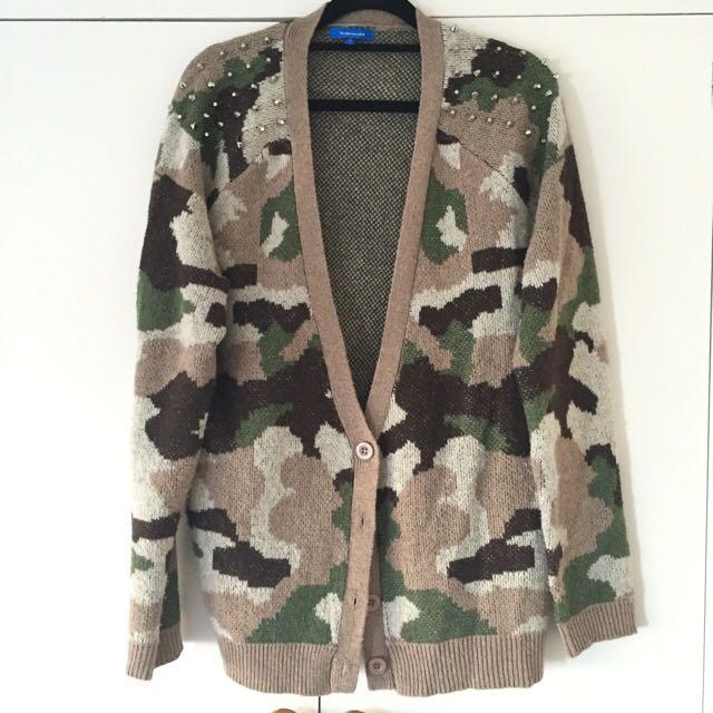 """Valleygirl"" Camouflage Cardigan"