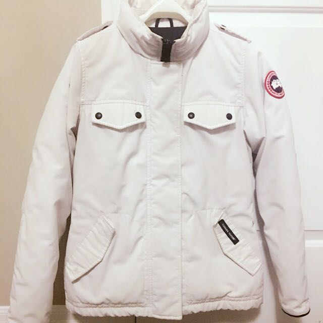 Women's Canada Goose White Winter Jacket