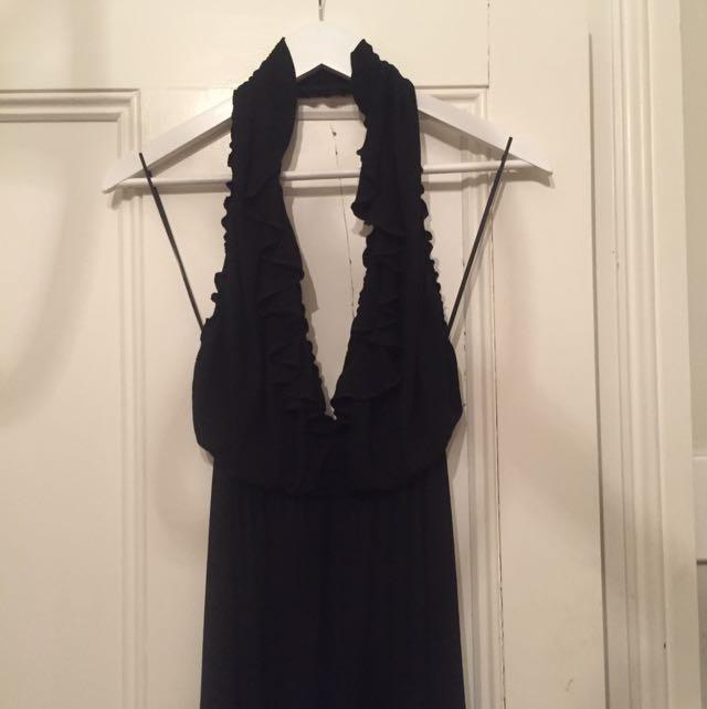 Zara Black Plunge Jumpsuit