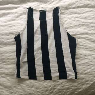 American Apparel Stripped Croptop
