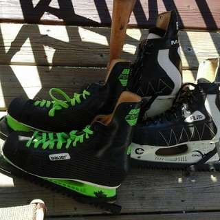 2 Pair Mens Ice Skates Size 8.5