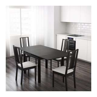 FREEE!!!!! Black IKEA extendable dining room table - Good Condition!