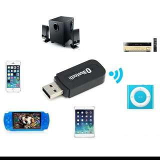 Ex-Stock BNIB USB Wireless Bluetooth 3.5mm Music Audio For Speakers, Amplifier And Car Handsfree Receiver Adapter