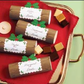 Martha Stewart Christmas Log Treat Boxes - 4 Sets
