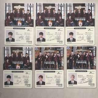 BTS SK Telecom Official Data Cards