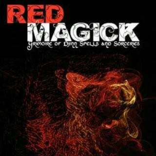 Red Magick: Grimoire of Djinn Spells and Sorceries by Egyptian Sorcerer.  Red Magick is a book for sorcerers looking for results at all costs. In its pages, researchers will find compelling insights into Djinn-based sorcery. Use at your own discretion.