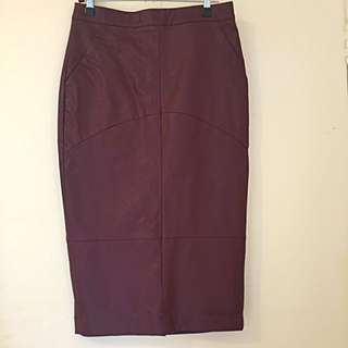 Sportsgirl Maroon Pencil Skirt