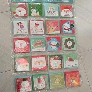 迷你聖誕咭 $2/張 買5送1