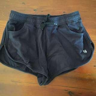 Size 8/XS Black Running Shorts