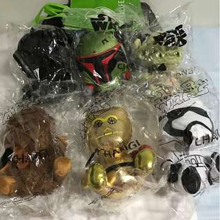 Last Year Star Wars Plush toy from Changi Airport (Whole Set of 6)