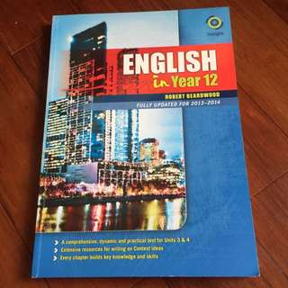 English In Year 12 Insight Text Book